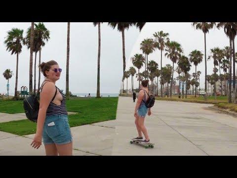 SURFING IN SANTA MONICA / SKATEBOARDING IN VENICE BEACH