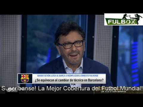 ACIERTO Salida de Ernesto Valverde, Quique Setien puede SALVAR al Barcelona- Jorge Ramos