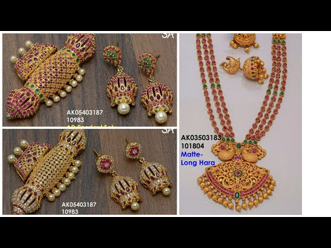 New Arrival 1 Gram Gold jewelry with price / Free shipping with contact no
