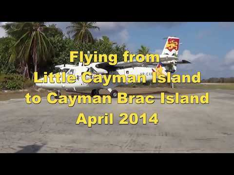 Flying from Little Cayman to Cayman brac Island April 2014