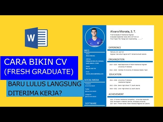 Cara Membuat Cv Di Ms Word Untuk Fresh Graduate 2018 Youtube