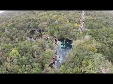 Vuelo test Drone Crew Mexico Cenote Azul Riviera maya