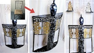 HOW TO TURN OLD CHAIRS INTO TABLES| EASY AND INEXPENSIVE HOME DECORATING IDEA 2019 thumbnail