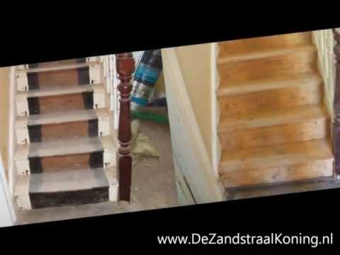 Houten trap meubels spanten balken deuren plafonds mooi for Houten trap behandelen