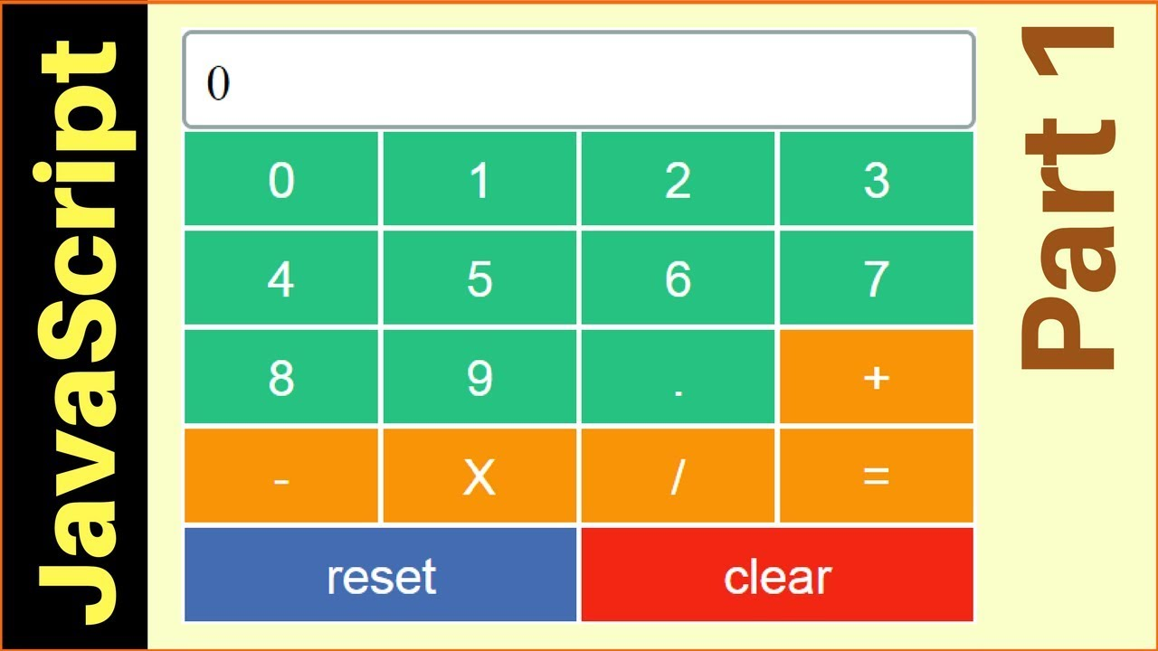 Create a calculator using javascript css html.