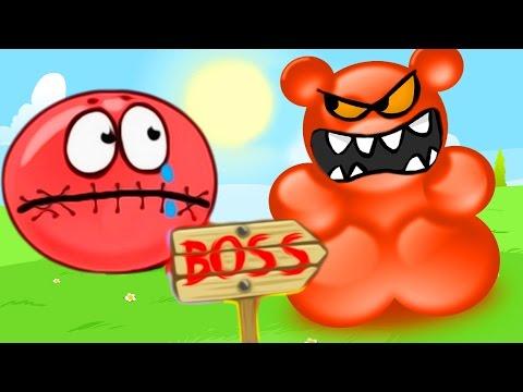 КРАСНЫЙ ШАРИК спешит на паровозик Мультик мультфильм Игры для детей малышей Red Ball