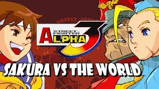 SAKURA FIGHTS THE WORLD - *Bonus* Sakura Legacy:  Street Fighter Alpha 3 MAX (PSP)