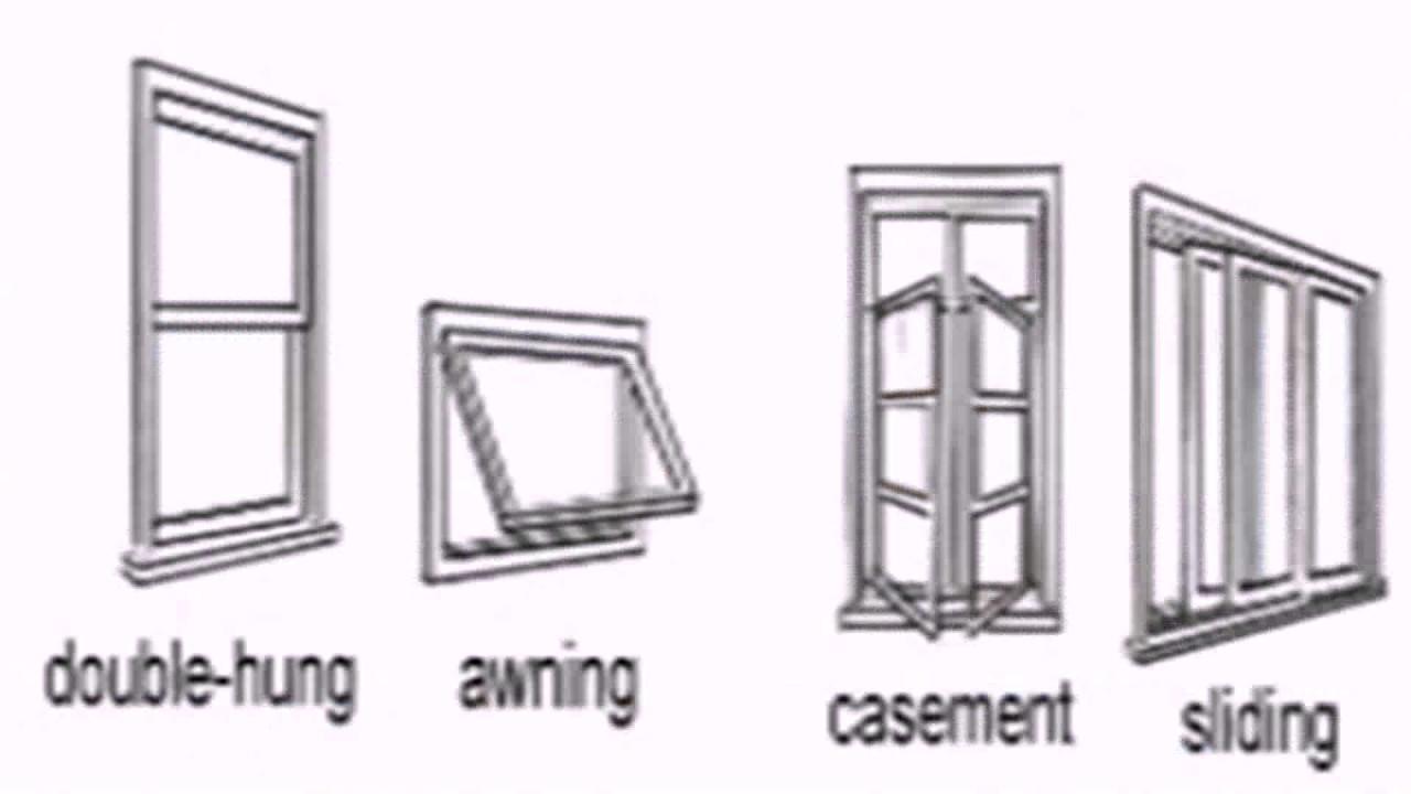 Awning window floor plan symbol youtube for Window floor plan