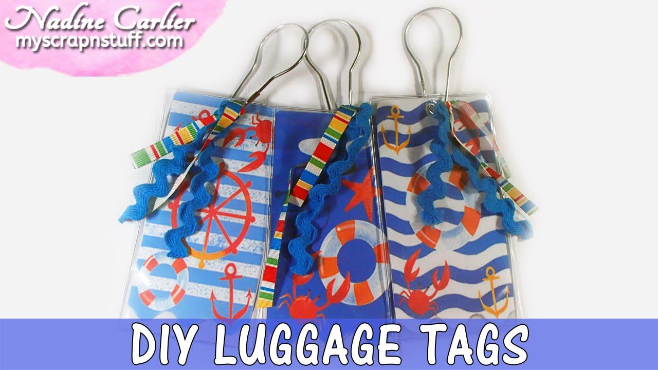 easy diy luggage tags youtube