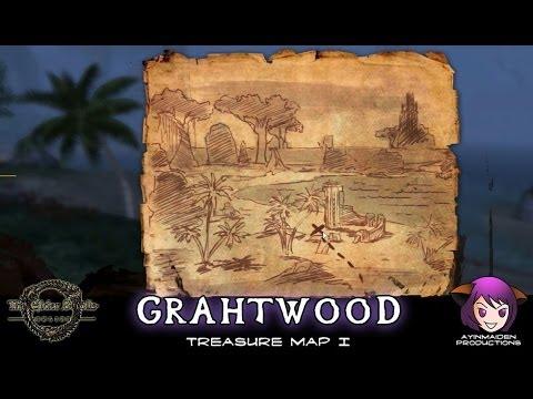 ☆ Elder Scrolls Online ☆ - Grahtwood Treasure Map I - YouTube