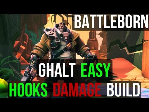 Ghalt Easy Hooks Build - Overpowered Damage CC Crowd Control Build - Battleborn PS4