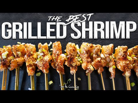 The Best Quick & Easy Grilled Shrimp Recipe | SAM THE COOKING GUY 4K