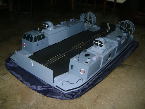 Homemade RC Hovercraft LCAC scratchbuilt for the Indian ...