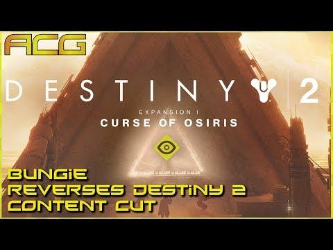 Destiny 2 Restoring Original Content That Curse of Osiris Cut Out If you Didn't Buy It