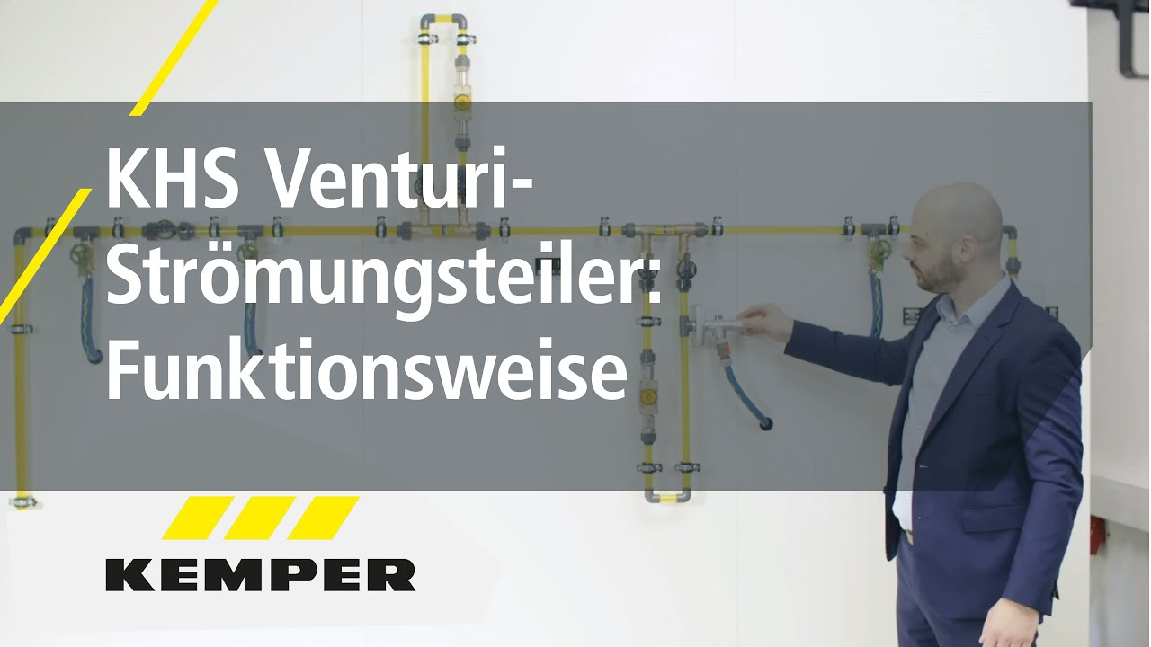 Youtube Video: KHS Venturi-Strömungsteiler: Funktionsweise