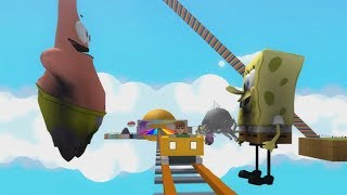 ROBLOX: THE OLD MAN WALKED ON THE ROLLERCOASTER OF SPONGEBOB AND PATRICK GIANTS! -Play Old man
