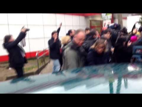 Pussy Riot's Tolokonnikova and Alyokhina Exit a Police Station in Sochi