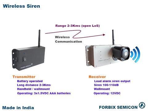 Long Range Wireless Siren