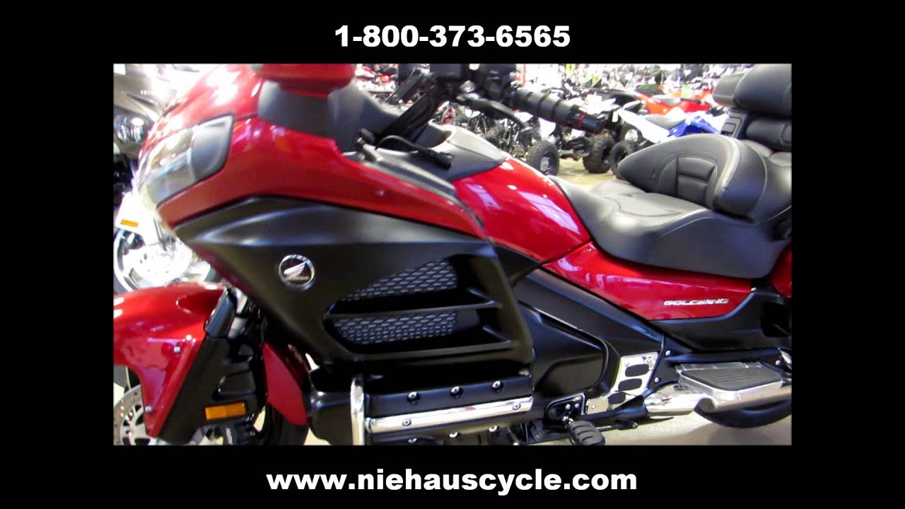 2012 Custom Honda Gold Wing Flat Black And Candy Red Niehaus Cycle Sales Youtube