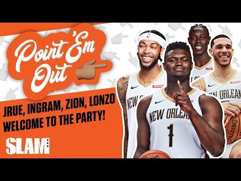 Zion Williamson Been BUMPING Lonzo Ball's Music in the Locker Room?! | SLAM Point 'Em Out