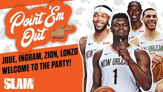 Download Zion Williamson Been BUMPING Lonzo Ball's Music in the Locker Room?! | SLAM Point 'Em Out Mp3 and Videos