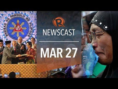 Rappler Newscast: GPH-MILF peace deal, Bangsamoro, Egypt army chief