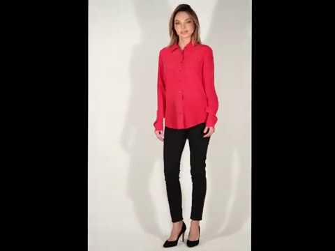 EQUIPMENT Light Red Signature Silk Shirt