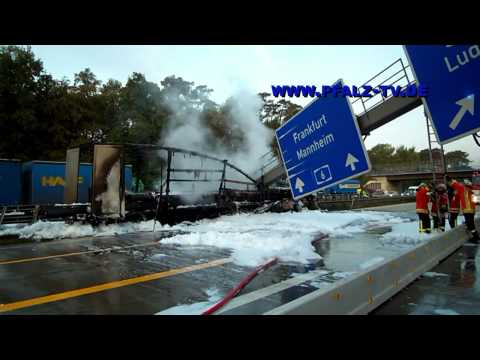 Aktuelle News - Schwerer LKW Unfall auf der A 6 höhe Rastanlage Hockenheim