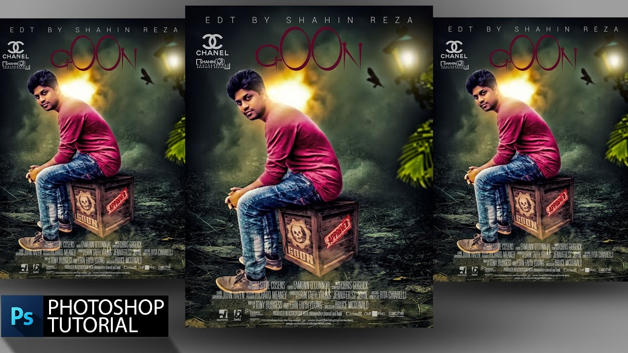 photo editing goon movie poster desien by shahin reza