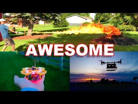 Most Epic RC Vlog EVER! – Flamethrower, Nano FPV Drones, a Quad Quad & More – TheRcSaylors
