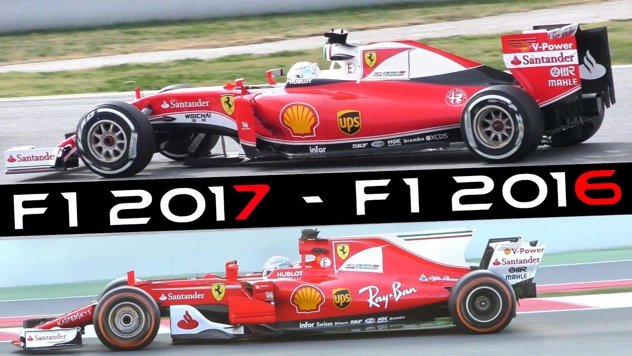 Formula 1 F1 2017 Sound Ferrari Sf70 H Vs Sf16 H F1 Test 2017 Spain Youtube