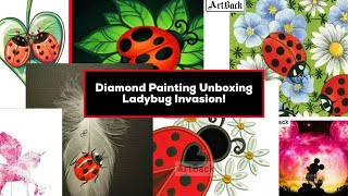 Diamond Painting Unboxing - Ladybug Invasion - Big Haul from Artback Store on AliExpress