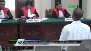 TERDAKWA KORUPSI DISNAKER DIVONIS 2 TAHUN 6 BULAN PIDANA PENJARA
