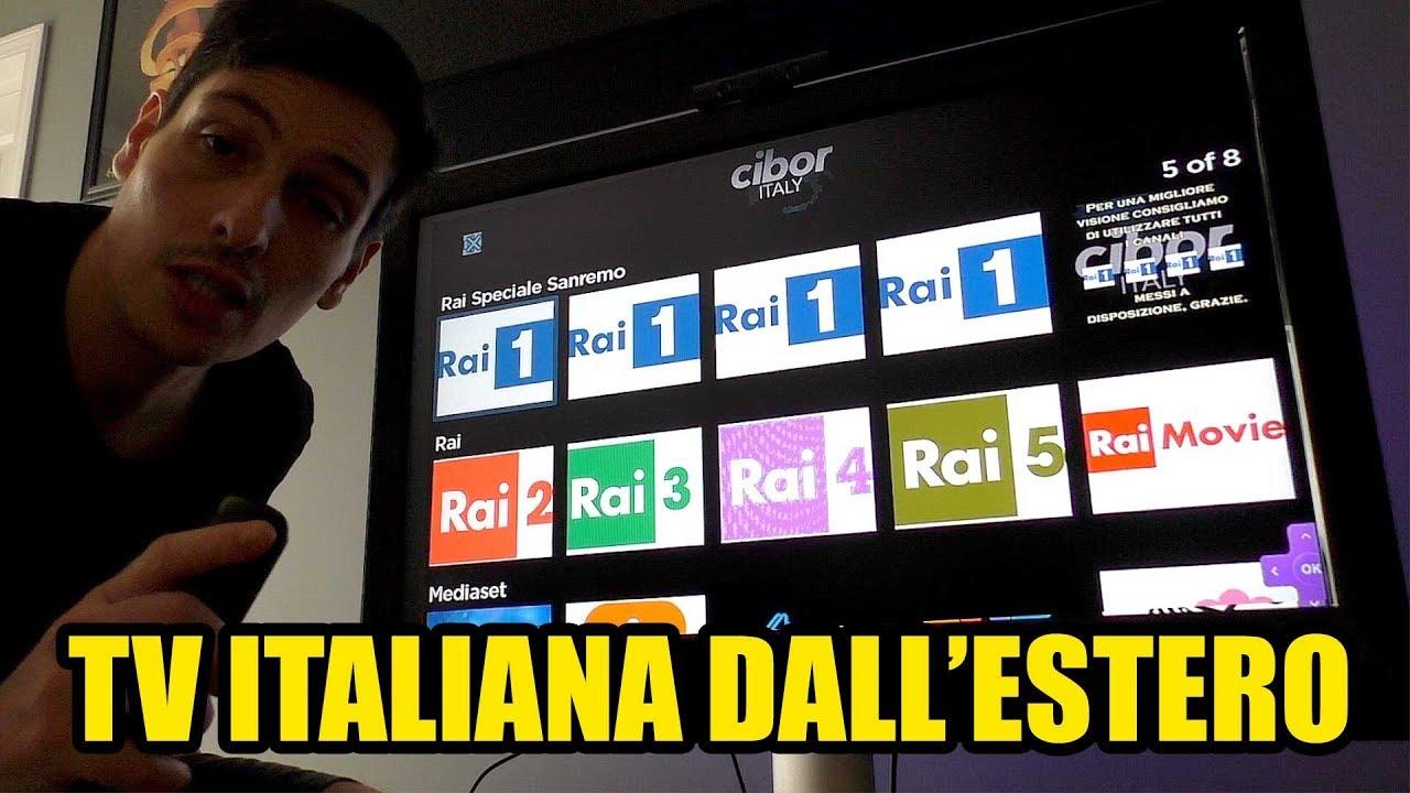 Come GUARDARE LA TV ITALIANA dall'ESTERO sul TV GRATIS