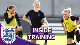Lionesses Prepare for Crunch Qualifier | Goalkeeper Drills and Sprints | Inside Training