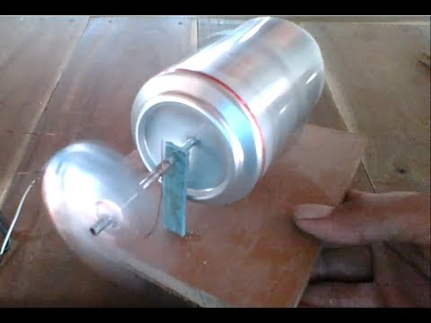 How to make 2000 RPM DC motor out of beer can very easy, new idea 2017