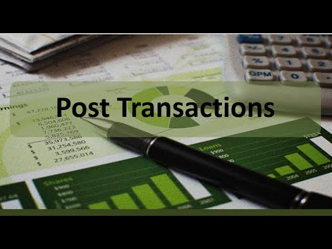 Accounting Cycle Step 3: Post Transactions