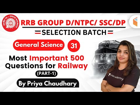12:00 PM - RRB Group D/NTPC/SSC/DP 2019-20 | GS by Priya Chaudhary | Most Important 500 Questions