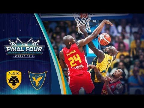 Aek v ucam murcia - semi final - full game - basketball champions league 2017-18