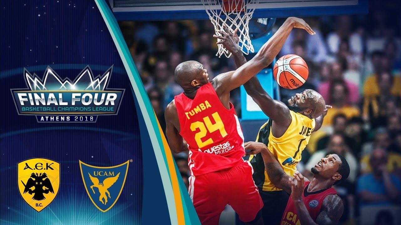 AEK v UCAM Murcia - Semi Final - Full Game - Basketball Champions League 2017