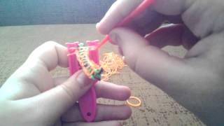 Плетение из резиночек:-)урок 6 :-):-):-)