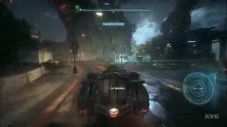 Batman: Arkham Knight - Batmobile Open World Free Roam Gameplay (PC HD) [1080p]