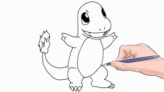 How to Draw The Pokemon Charmander Easy Step by Step