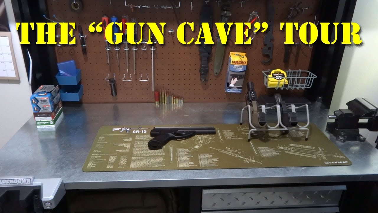The gun cave man cave tour youtube for Gun room design ideas for houses