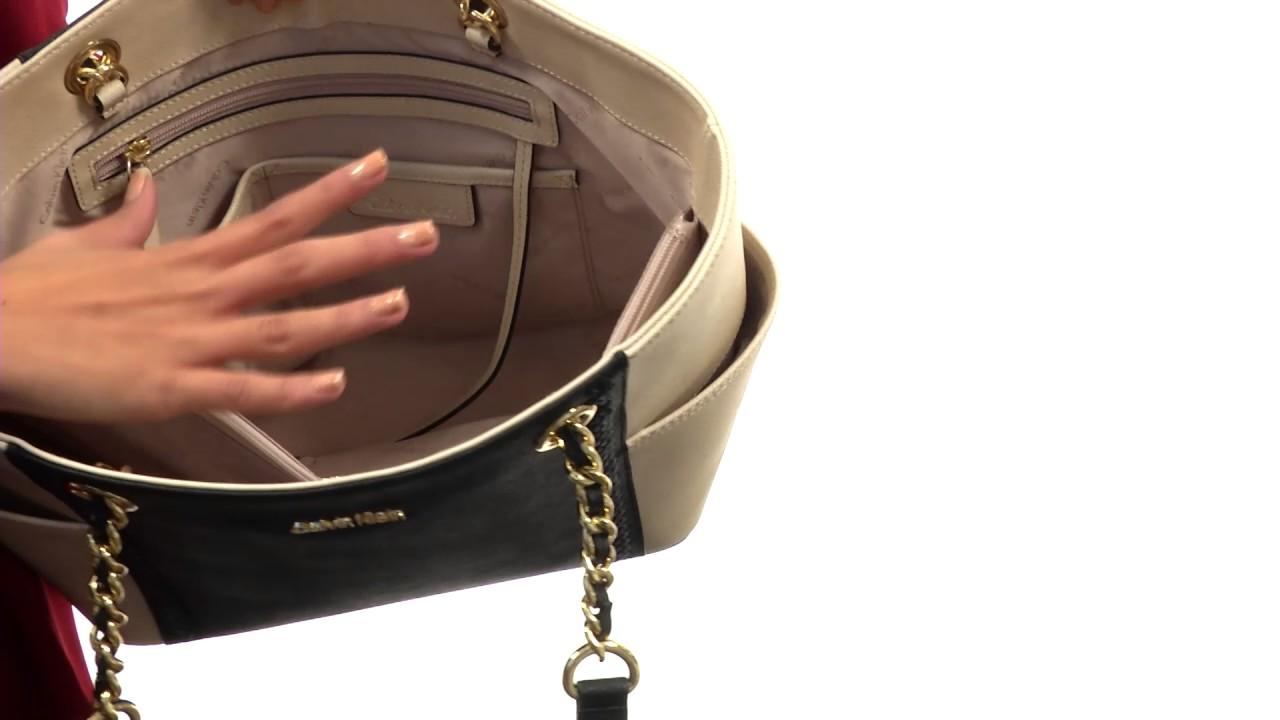 Calvin Klein Key Item Saffiano Tote SKU 8858164 - YouTube ebc7fcaa8d