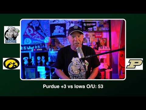 Purdue vs Iowa Free College Football Picks and Predictions CFB Tips Saturday 10/24/20