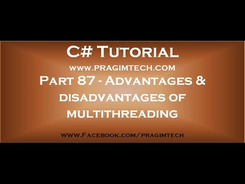 Part 87   Advantages and disadvantages of multithreading