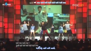 [Vietsub Kara] Irony + Tell me + She was pretty - Wonder Girls feat. JYP
