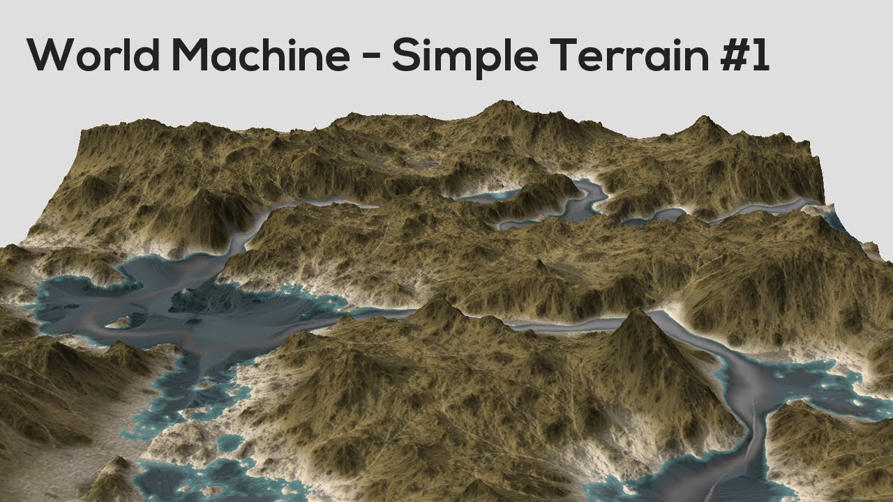 World Machine - Simple Terrain #1 - YouTube