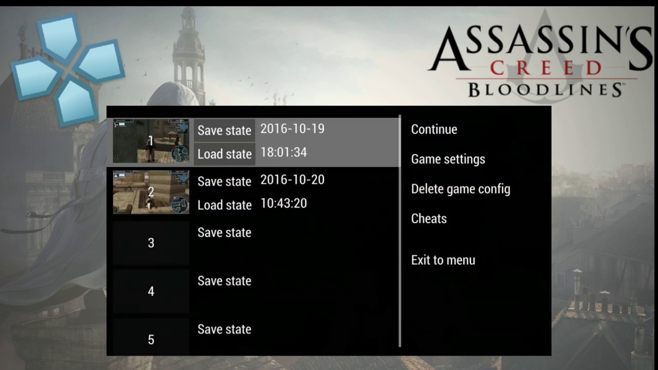 Assassin S Creed Bloodlines Ppsspp Best Setting V1 3 0 Android